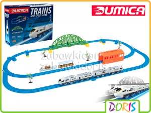 DUMICA KOLEJKA POCIĄG ZESTAW HIGHT SPEED TRAIN SET H1