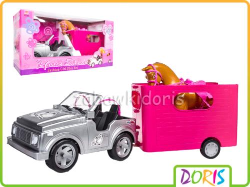 Auto Jeep Dla Lalki Przyczepa Z Koniem Zabawkidoris