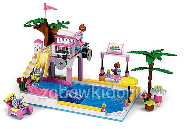 Klocki blocki lalilandia zabawa na basenie 302 el for Piscina lego friends